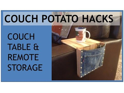 Couch Potato Hacks - Couch Table & Remote Holder