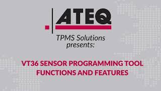 ATEQ VT36 TPMS Sensor reader, activator, and programming tool - HUF Intellisens TPMS sensor