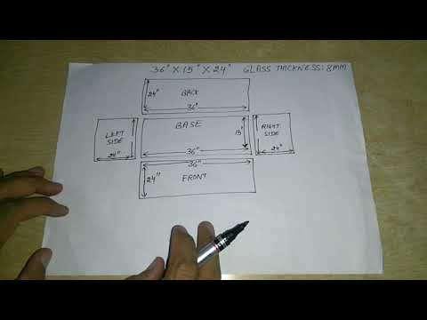 #156. How To Calculate Glass Dimensions To Make An Aquarium.