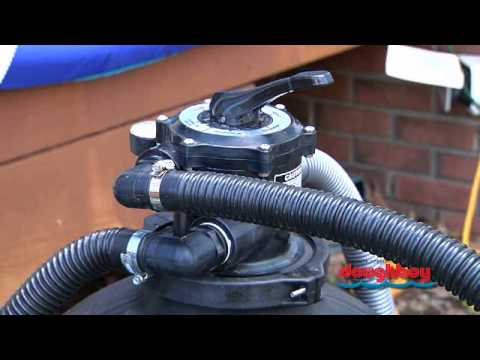 how do i hook up a sand filter to my pool