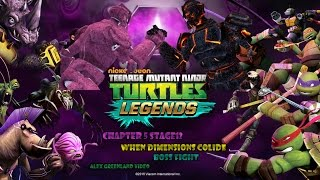 tmnt legends chapter 5 stage 12 when dimensions collide boss fight