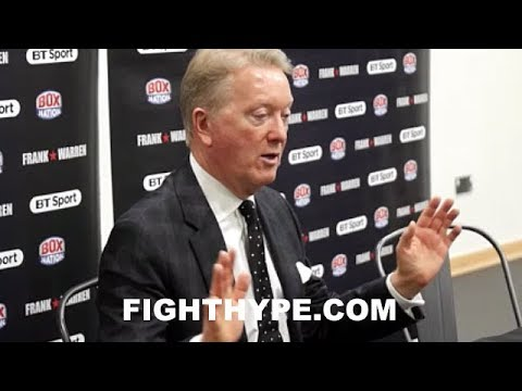 FRANK WARREN SHOCKED BY JAMES DEGALE LOSS; EXPLAINS WHAT WENT WRONG AND HOPES FOR REMATCH