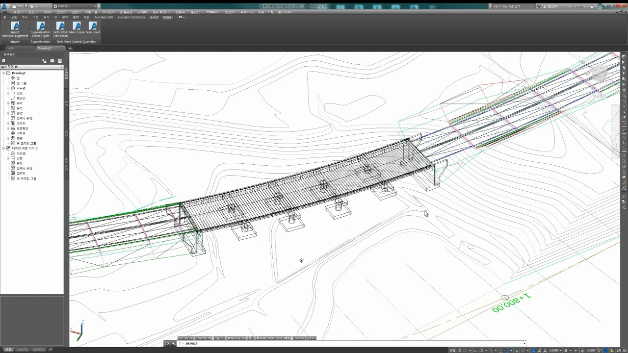 'KGRoad' (Road Design 3rd Party for Civil 3D) - (5)구조물 검토(Bridge, Tunnel)