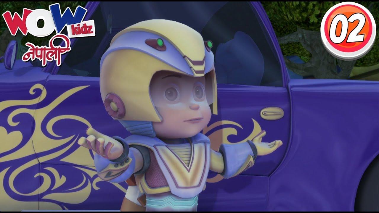 Vir the robot boy | Nepali Cartoon | Car Thief | Nepali Story for Kids | Wow Kidz Nepali