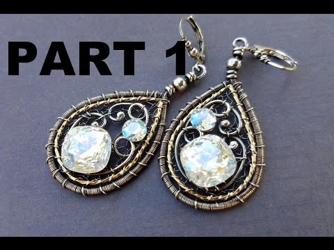 Wire Wrapping Tutorial - New Years Earrings Part 1