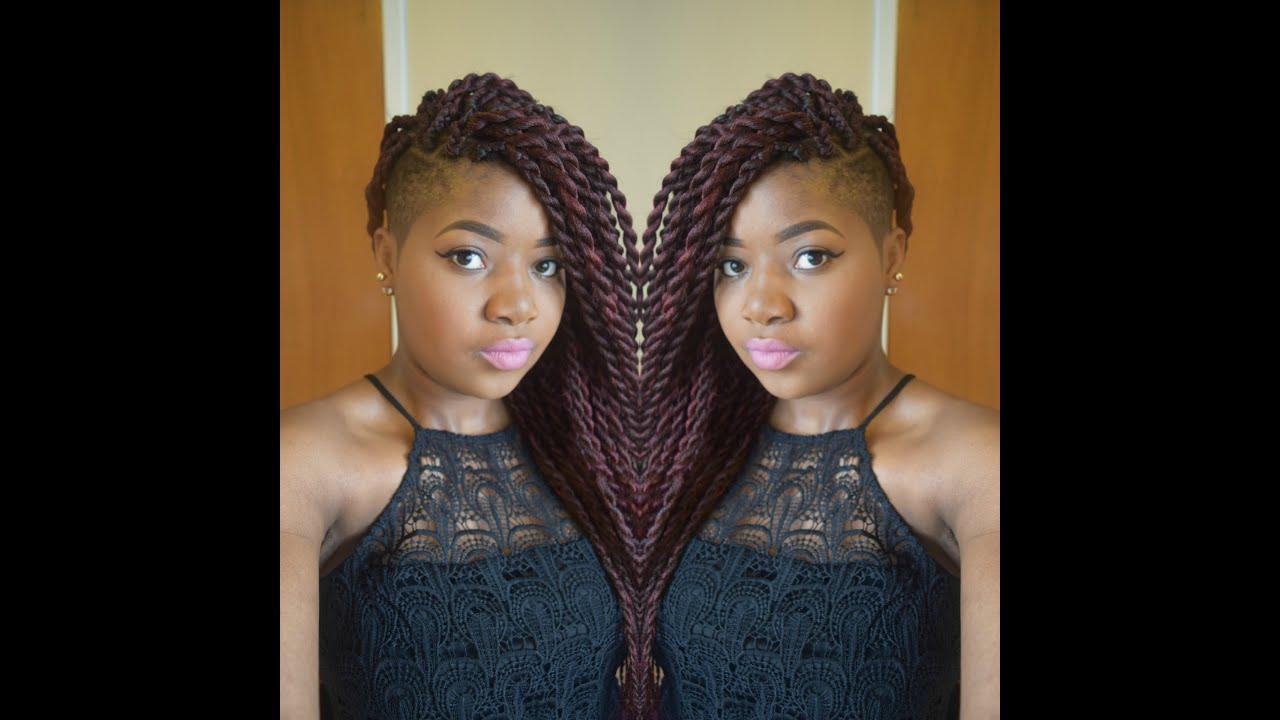 Hair Tutorial Jumbo Senegalese Twists Rope Twists Two