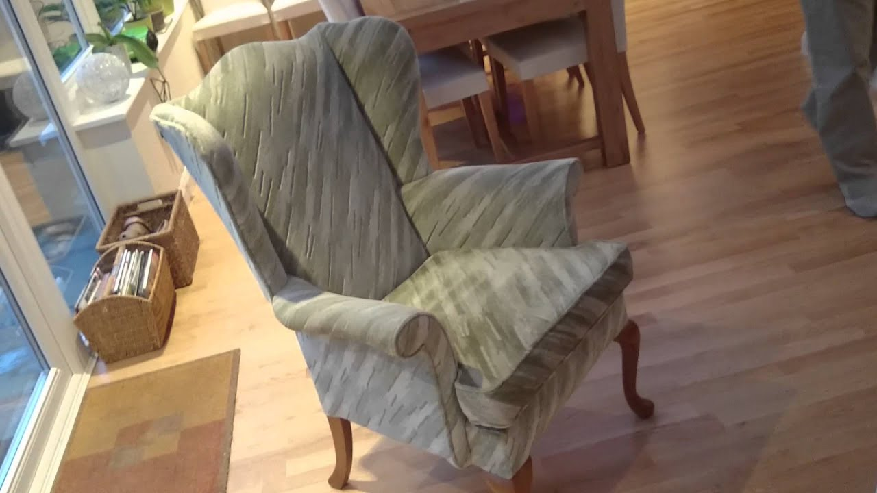 Wingback Chair to Reupholster in brown leather
