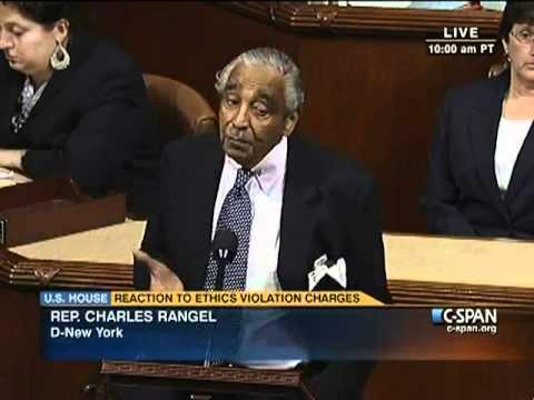 Representative Rangel Reaction to Ethics Violation Charges