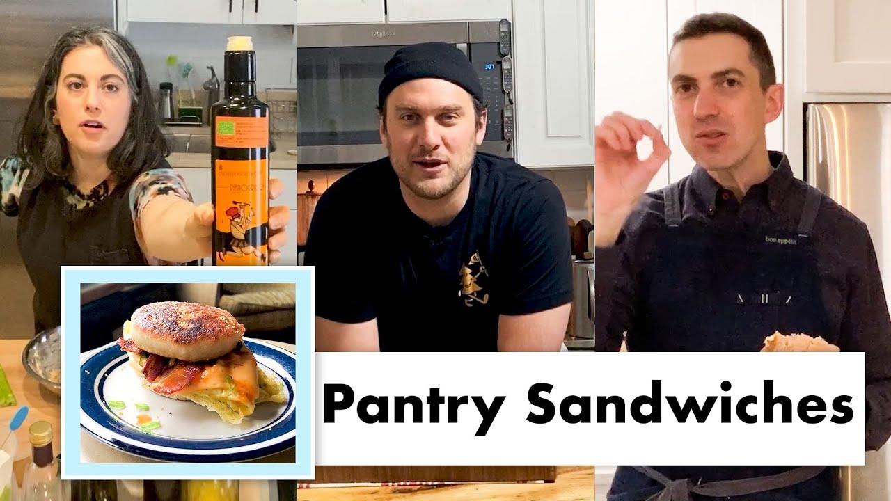 Pro Chefs Make 9 Kinds of Pantry Sandwiches | Test Kitchen Talks @ Home | Bon Appétit