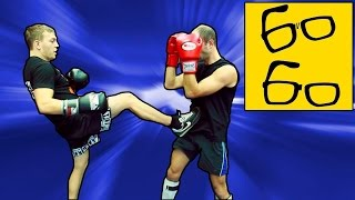 Бой с левшой в кикбоксинге  — урок кикбоксинга Юрия Караваева по работе против левши(Подписка на канал