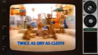 1984 Pampers Twice as Dry as Cloth