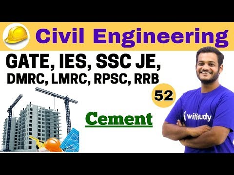 3:00 PM - Civil Engineering 2018 | Civil Engineering by Nikhil Sir | Cement