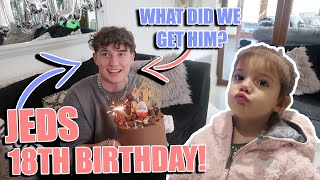 JED'S 18TH BIRTHDAY AND WHAT WE GOT HIM!!