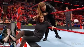 WWE Raw 3/5/18  Rousey and Angle team up against Authority