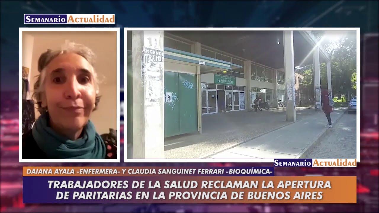 Trabajadores de la salud reclaman la apertura de paritarias en la provincia de Buenos Aires