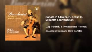 Sonata in A Major, G. deest: III. Minuetto con variazioni