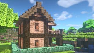 ✔ マインクラフト: 初心者でもできる簡単な家の作り方 #1