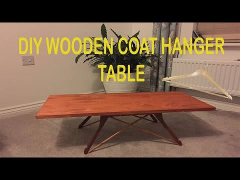 DIY WOODEN COAT HANGER MINI COFFEE TABLE