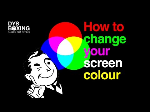 How to change computer screen color back to normal