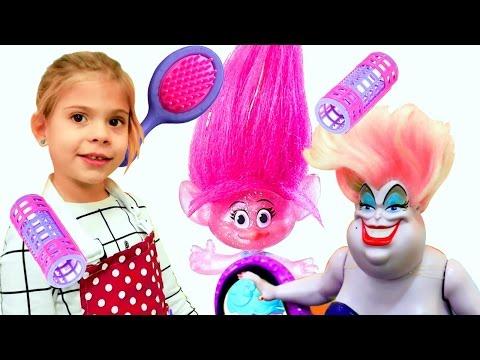 🌺 Видео для девочек. Игра #ПАРИКМАХЕРСКАЯ 💇 Делаем прически с Элис. Детское видео