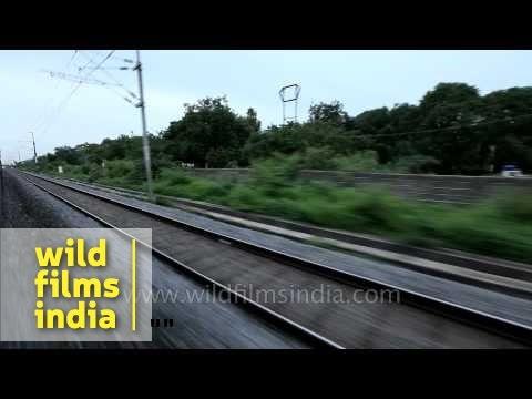 Landscape from train after crossing Krishna River - Kerala
