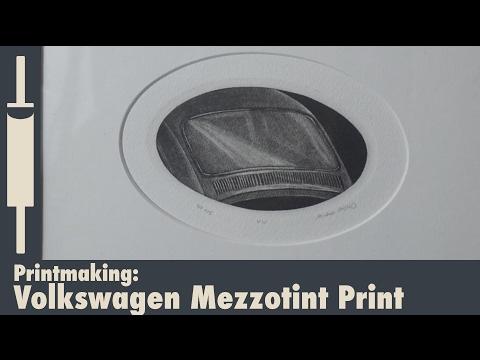 Volkswagen Beetle Mezzotint Print