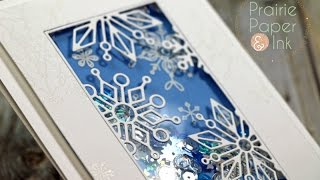 SSS Frozen Fractals Shaker Card + GIVEAWAY | AmyR 2016 Christmas Card Series #20