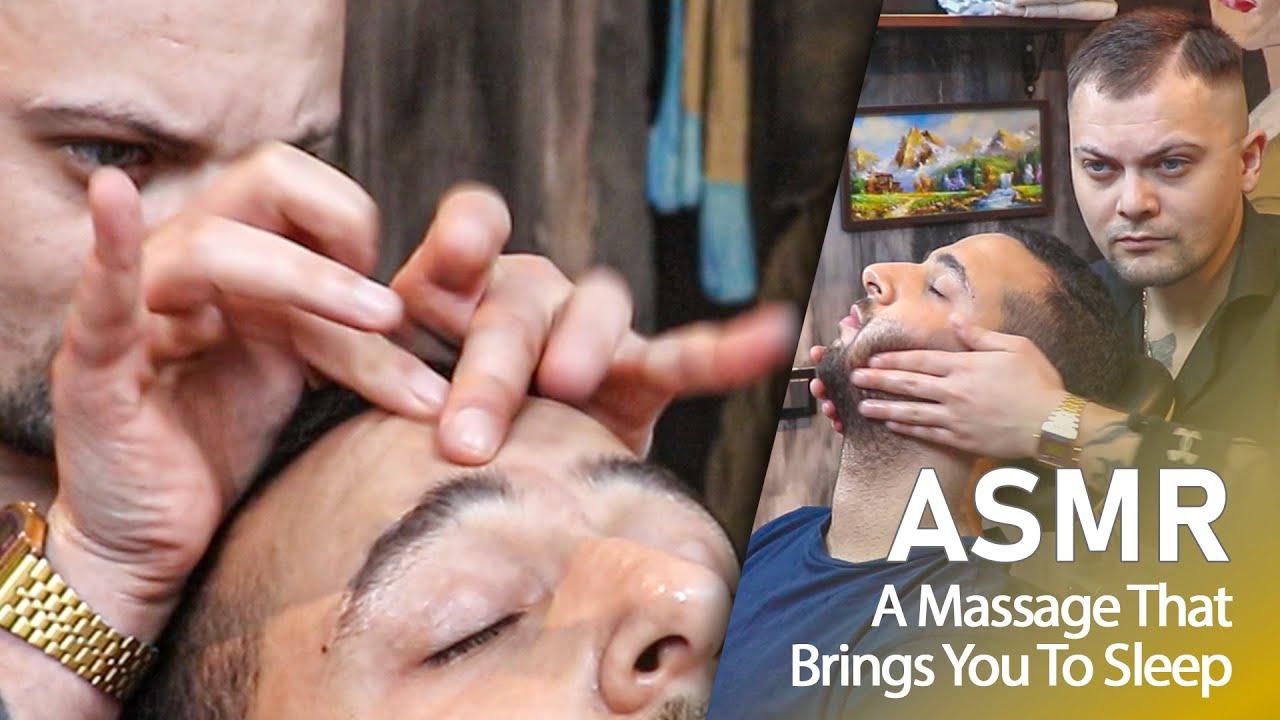 ASMR | Your Sleep Routine In Barber Shop - ASMR HEAD MASSAGE