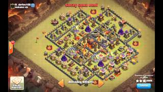 Clash of Clans TH10 war attack 3star Lava Hound Balloon