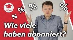 Wie viel Prozent deiner Zuschauer haben deinen Kanal abonniert? #WiegehtYouTube