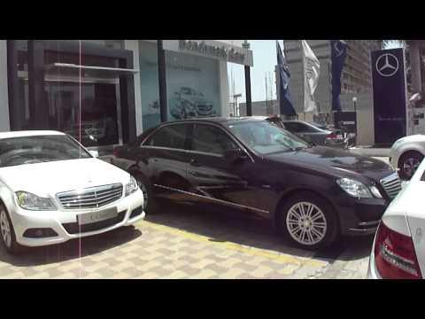 Mercedes Benz car showroom on Surat Dumas Road, Surat, Gujarat, India; 16th May 2012