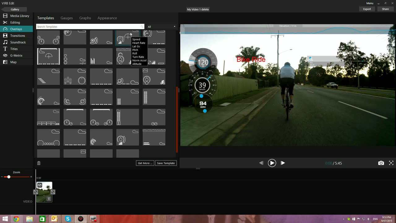 Garmin Gps Watch >> How to add Overlay to your Cycling Video with Virb Edit ...