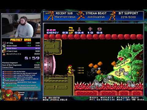 Super Metroid: Project Base 104% in 45:07 (0:32) [WR]