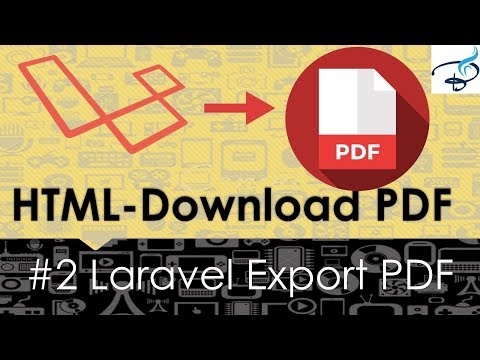 Laravel Export to PDF | Convert Html to PDF #2 - YouTube