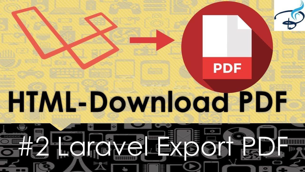 Laravel Export to PDF | Convert Html to PDF #2