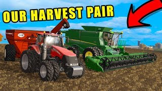 SOYBEAN HARVEST & TRYING OUT OUR GEARBOX MOD | EP#91 | FARMING SIMULATOR 2017