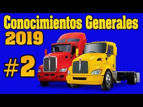 EXAMEN PARA LICENCIA CDL CONOCIMIENTOS GENERALES # 2 Preguntas y respuestas