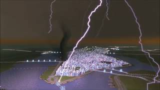 Cities Skylines - New York Natural Disaster Attack