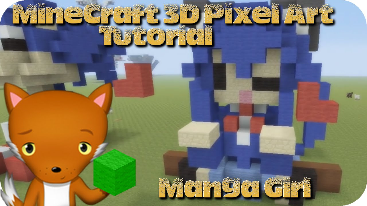 Minecraft 3d Pixel Art Tutorial Manga Girl Youtube