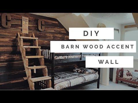 BARN WOOD ACCENT WALL AND REDESIGN 2019/ DIY, DECORATE AND CLEAN WITH ME