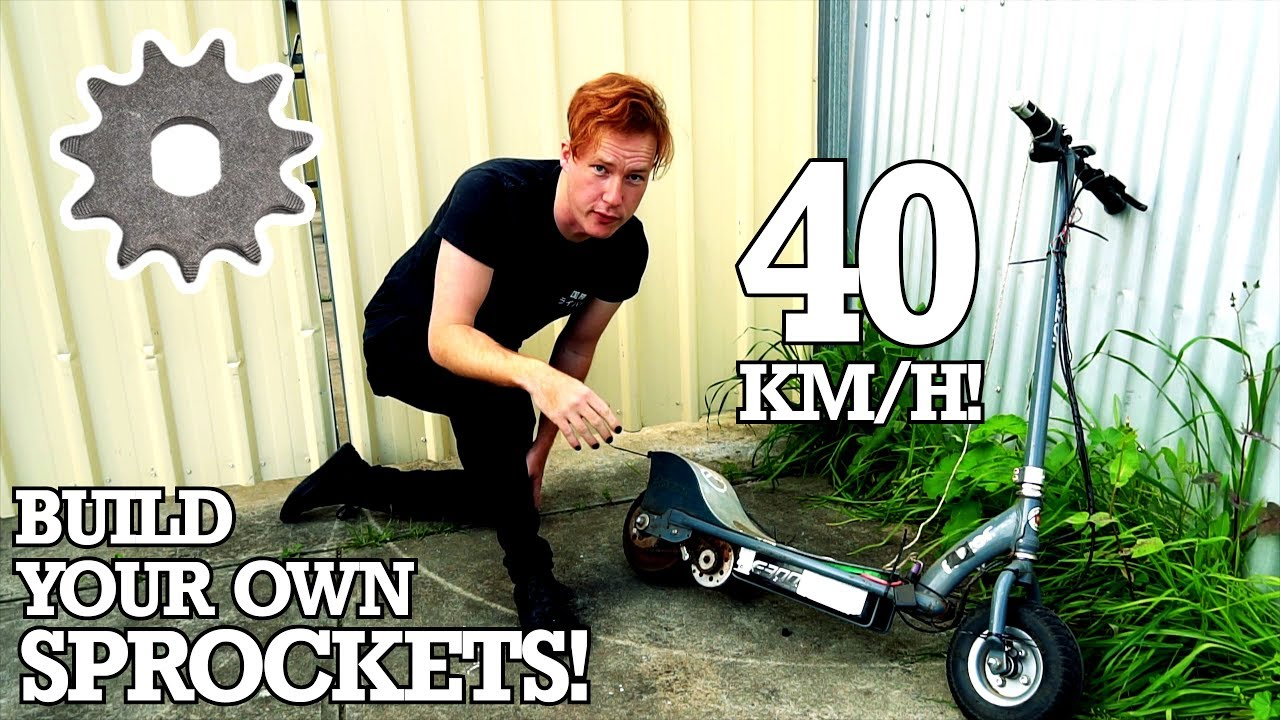 How To Make An Electric Scooter Chain Sprocket With Nothing