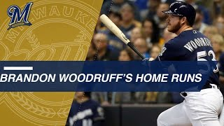 Woodruff hits 2nd homer of career in Game 1 of the NLCS