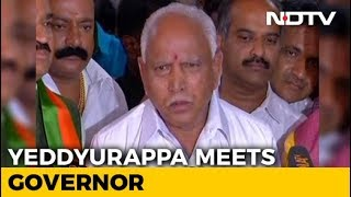 Yeddyurappa Meets Governor, Congress-JDS Next In Line