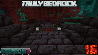 Truly Bedrock Season 2 Episode 16: Nether Tunnel and Sheep Farm