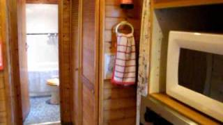 Robins Rest Log Cabin at Ashwater House, Louth, Lincolnshire, England
