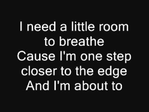 Lyrics containing the term: two steps closer by throwback