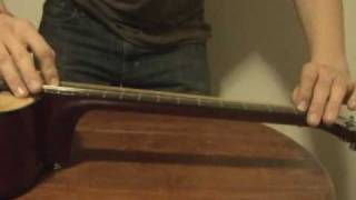 how to adjust a truss rod in an acoustic guitar
