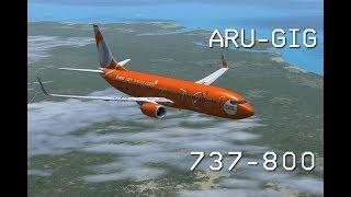 FSX - Voo Boeing 737-800 GOL Aracaju - Rio de Janeiro (Galeão)