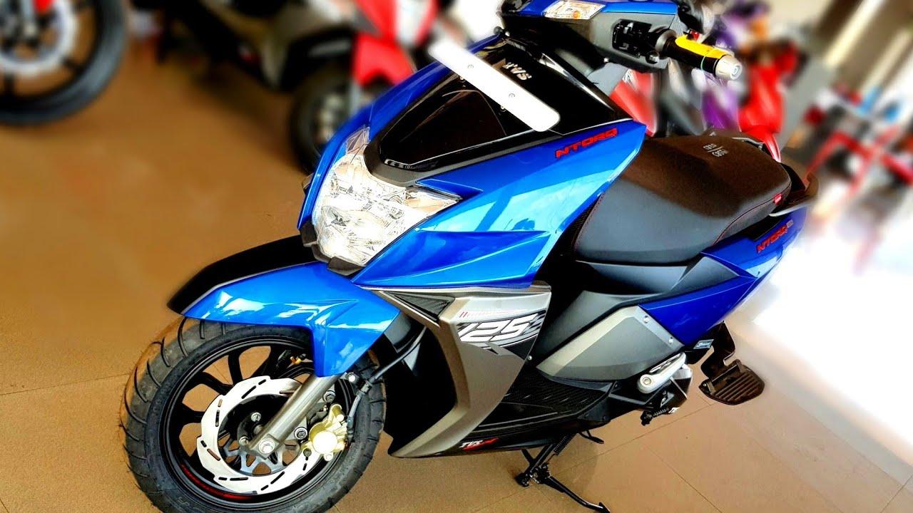 Metallic Blue Tvs Ntorq 125 Walkaround Features Mileage