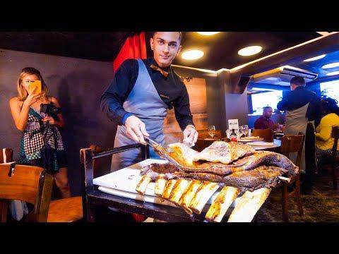 Brazilian Steakhouse - HUGE BEEF RIBS + 14 MEATS CHURRASCARIA in Rio de Janeiro, Brazil!